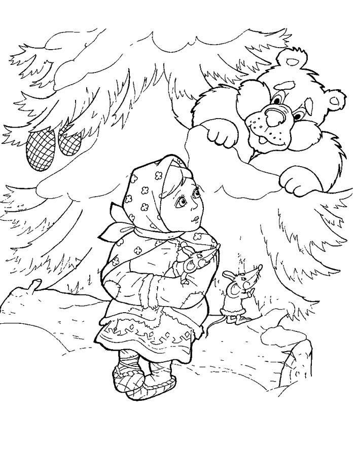из зимней карандашом сказки рисунок